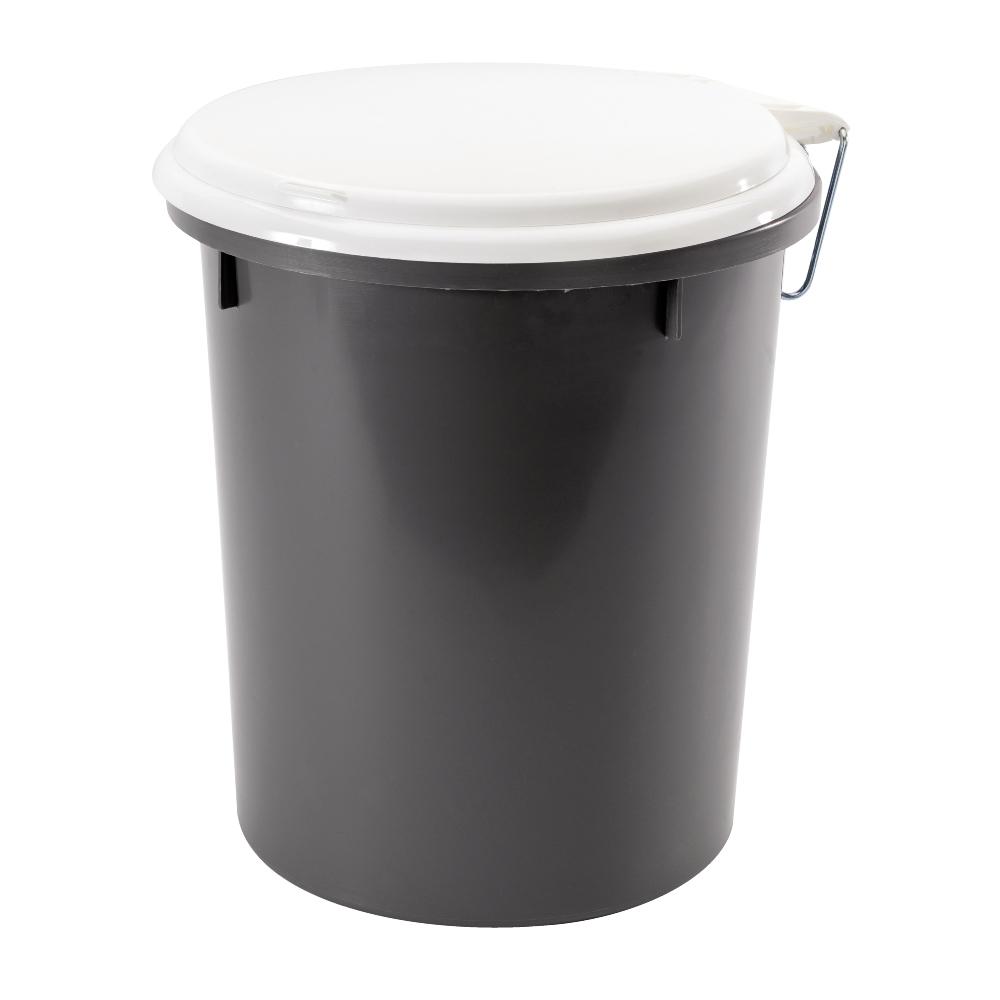 Kemisk toalett Nordiska Plast Toaletthink 38 liter i grå polypropenplast  med vitt loc… e044773d2073e
